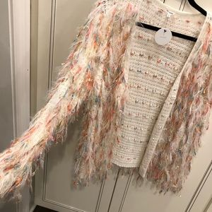 Sweaters - Boutique Cardigan with Fringes